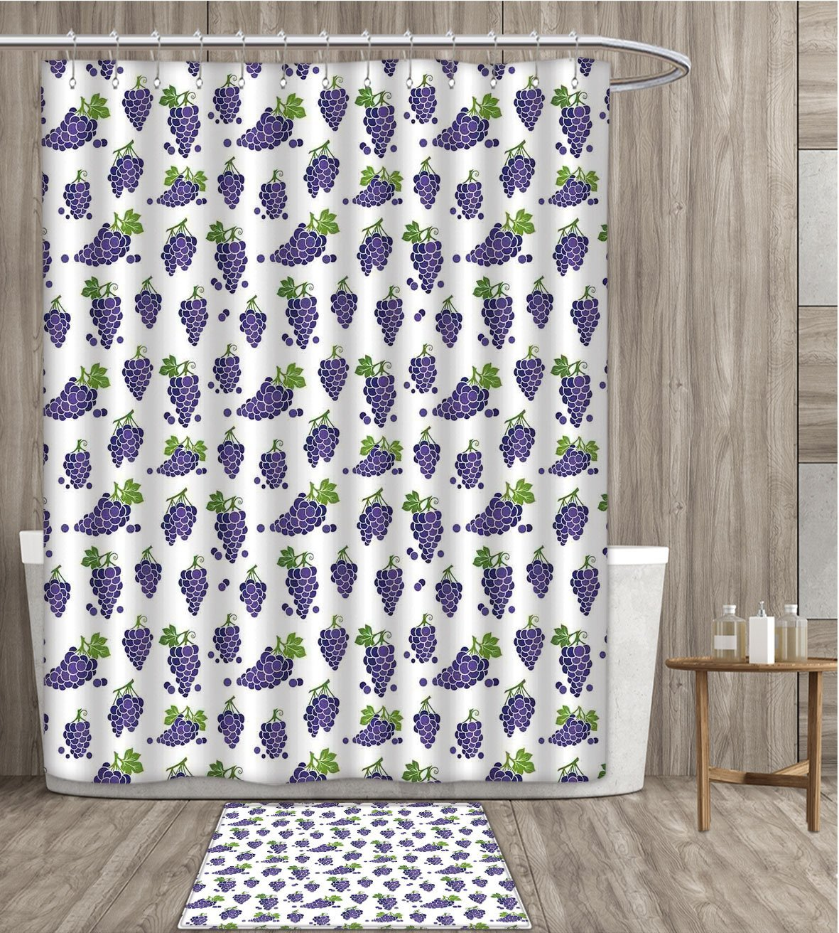 Us 17 01 26 Off Vineyard Shower Curtain Customize Cute Fruit Patterned Juicy Organic Yummy Sweet Food Cottage Life Design Fabric Bathroom Set In
