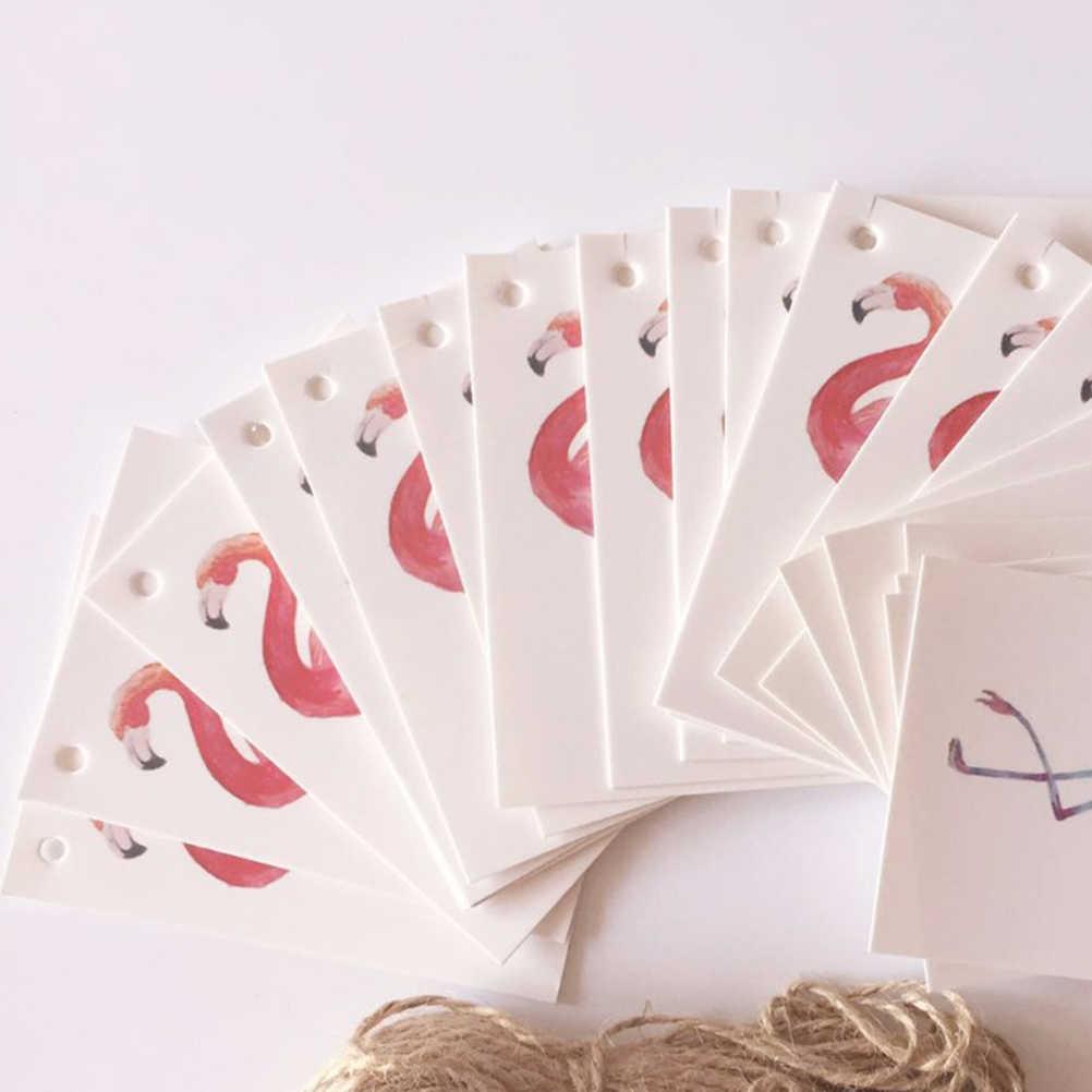 100 шт бумажные бирки DIY декоративные креативные Фламинго карты крафт бумажные бирки для вечерние свадебные украшения