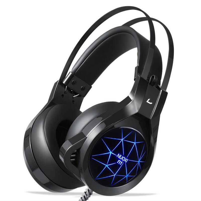 7 color LED Lights Original N1 Bass Stereo Surround Headband headphones Gaming Headset with Microphone For computer PC Gamer gaming headset led light glow noise cancealing pc gamer super bass headband headphones with microphone for computer pc