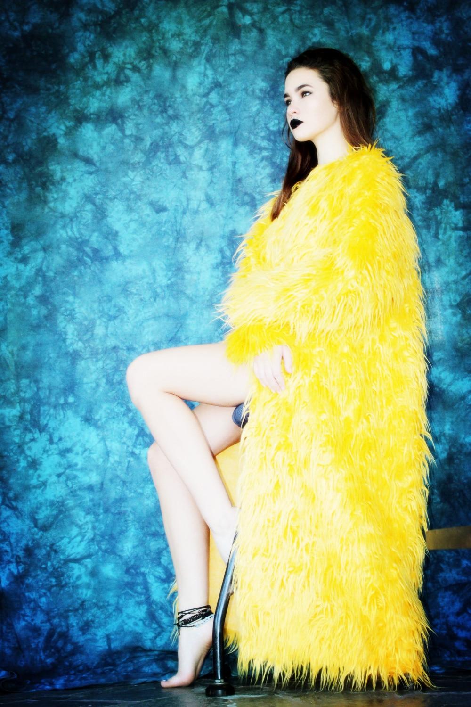 Fausse Moelleux De Lumineux Veste Manteaux D'hiver Fourrure Citron Vestes Manteau Longue Shaggy Dames Pour Femmes Mode Hiver Jaune Automne En 06axq