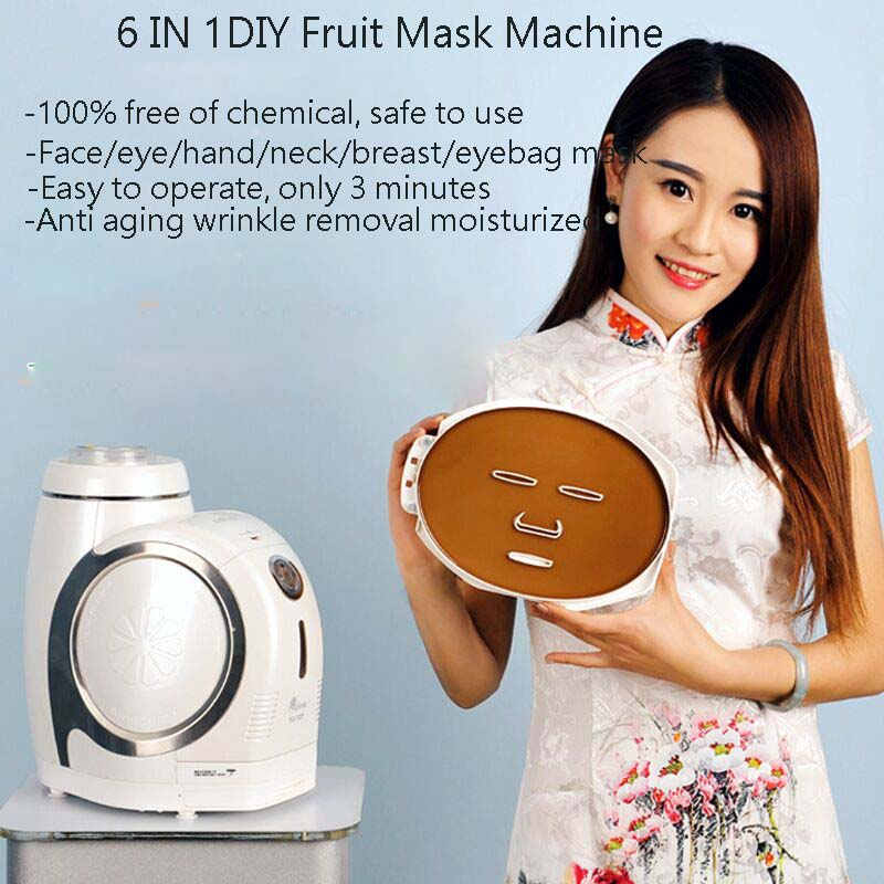 DHL Free Shipping 6 IN 1 DIY Face/Eye/Hand/Breast/Foot Neck Natural Fruit & Vegetable Mask Maker Beauty Care Home Spa Machine dhl free shipping 6 in 1 diy face eye hand breast foot neck natural fruit