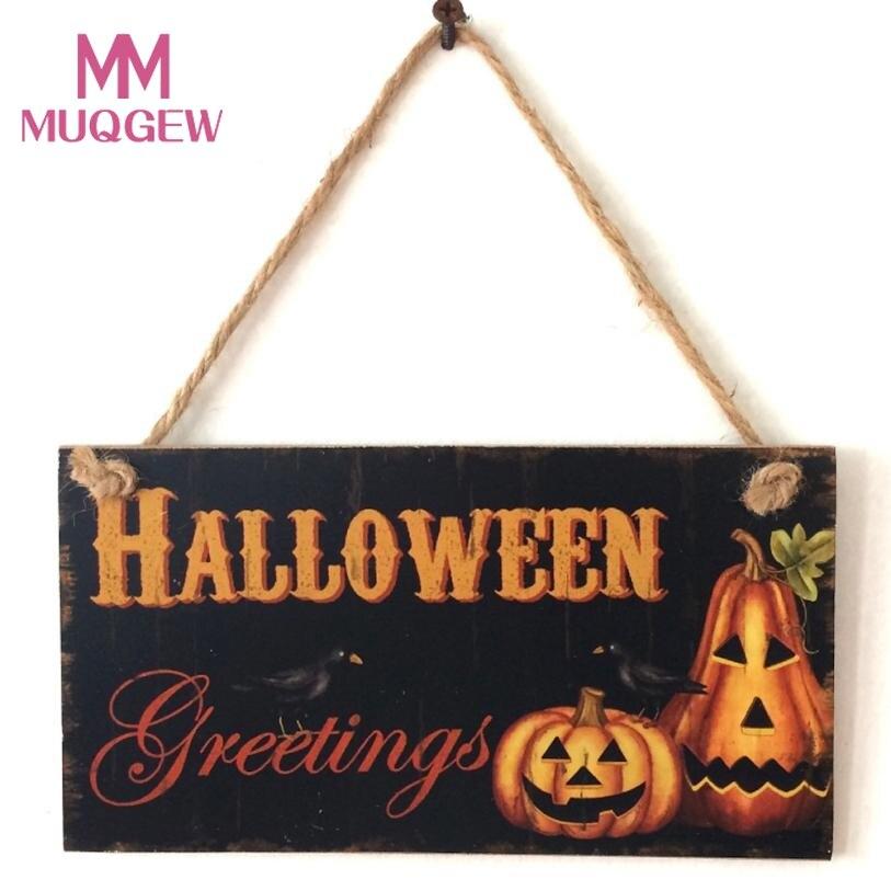 20.3*11*0.5 см Happy Halloween приветствие тыквы деревянный кулон двери Аксессуары висячие украшения партии