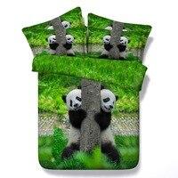 3d baskı hayvan panda/kedi/kutup ayısı dolgu ile yatak seti 5 adet ikiz/tam/kraliçe/kral/süper kral ücretsiz kargo