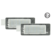 2Pair Pure White 6000K Car LED License Plate Lamp Auot Number Light For Renault Espace MK403