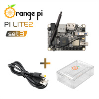 Orange Pi Lite2 SET3: OPI Lite2 & ABS Transparent Case & Power Cable