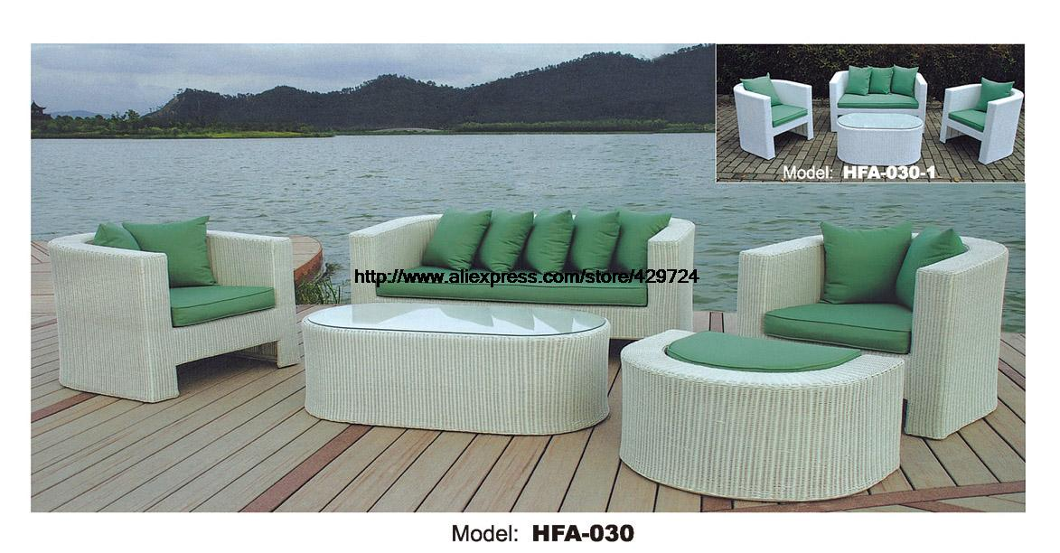 Refreshing Green Sofa Made Of PE Rattan 123 Ottoman Sectional Sofa Vine Garden Outdoor Furniture Sofa Set 2016 HFA030 circular arc sofa half round furniture healthy pe rattan garden furniture sofa set luxury garden outdoor furniture sofas hfa086