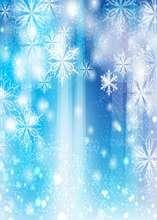 Azul do inverno do floco de neve neve Fundos Vinil bokeh pano de Alta qualidade de impressão Computador backdrops parede
