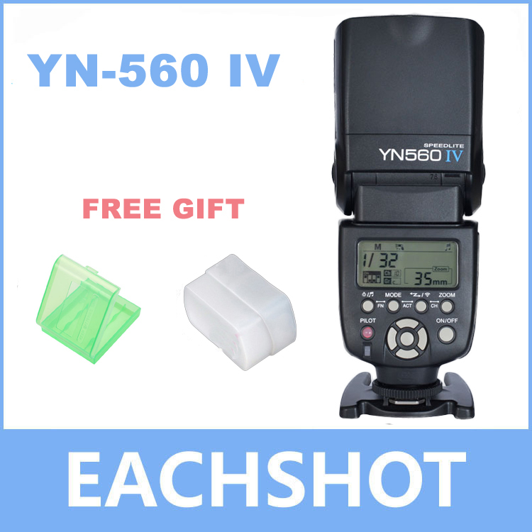 Yongnuo YN-560 IV Flash Speedlite for Canon Nikon Pentax Olympus DSLR Cameras YN560 4 560VI upgrade version of YN560 II YN560III ecr etching of ii vi compound semiconductors