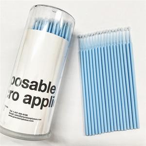 200 pieces S-M-L Micro Disposable Swab Brush Applicator Eyelash Extension Cotton Swab Makeup Tools Free Shipping