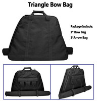 Archery Triangle Bow Bag With Arrow Holder Protect Bow and Arrow Archery Accessories For Compound Bow Hunting