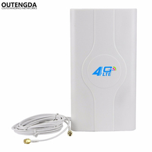 Indoor High-gain 700-2600Mhz 4G LTE MIMO Antenna with 2 PCS 2m Cable with CRC9/SMA/TS-9 Male Connector indoor high gain 700 2600mhz 4g lte mimo antenna with 2 pcs 2m cable with crc9 sma ts 9 male connector