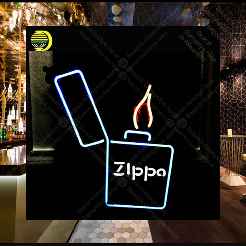 NEON SIGN For ZIP LIGHTER Signboard REAL GLASS BEER BAR PUB display RESTAURANT christmas Light Signs Great Gift Lamps 17*14 все цены