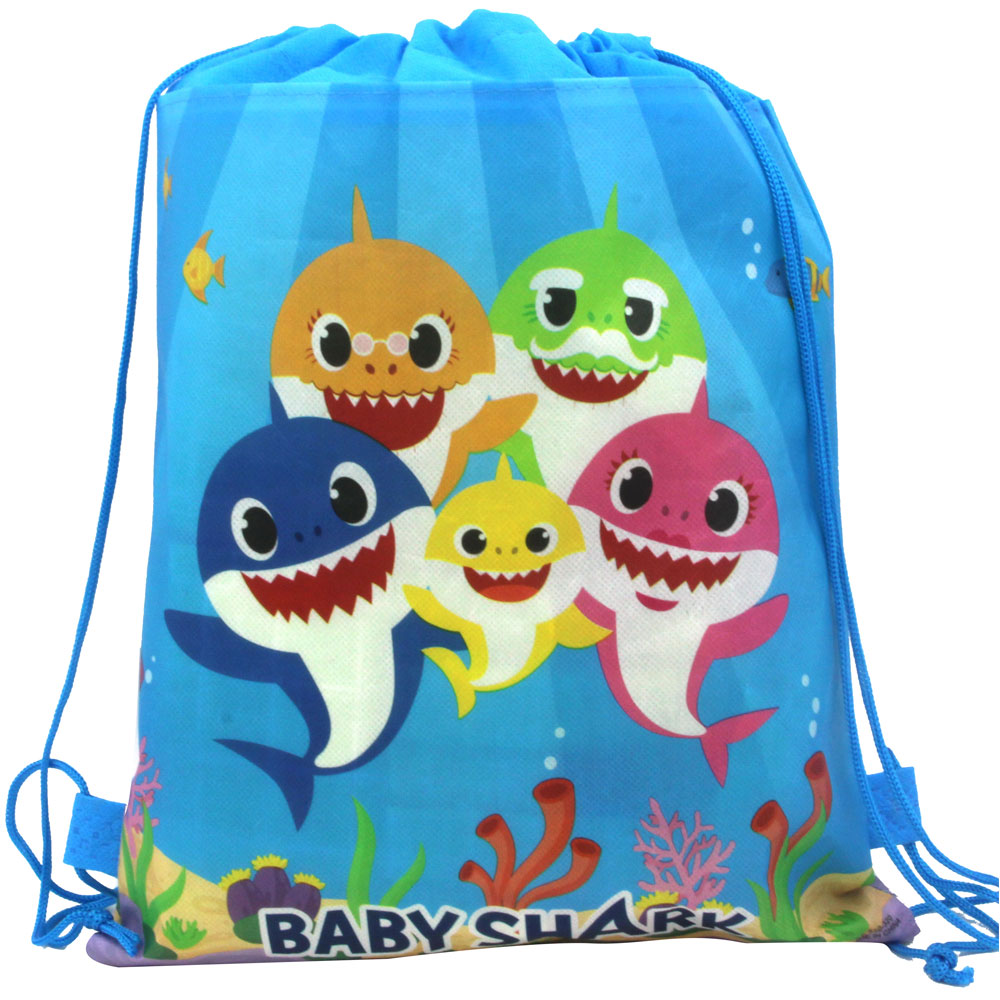 8pcs/set Baby Shark  theme birthday party gifts non-woven drawstring goodie bags kids favor swimming school backpacks for kids8pcs/set Baby Shark  theme birthday party gifts non-woven drawstring goodie bags kids favor swimming school backpacks for kids