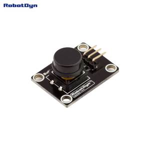 Button key switch module (BLACK). With LED light of action.