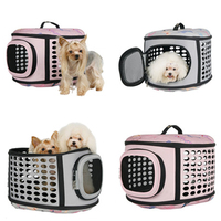 Free Shipping Travel Bag Folding EVA Small Pets Carrier Cage Collapsible Crate Tote Handbag Portable