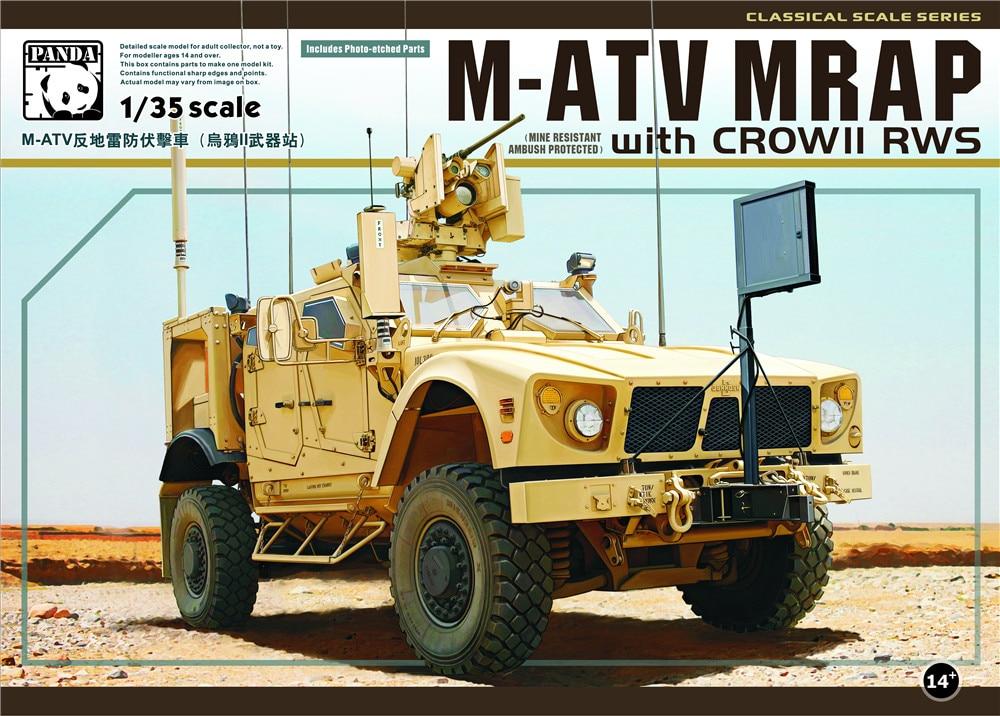 PANDA HOBBY PH35007 1/35 skala M ATV MRAP z crowII RWS zestaw do budowy modeli z tworzywa sztucznego w Zestawy modelarskie od Zabawki i hobby na AliExpress - 11.11_Double 11Singles' Day 1