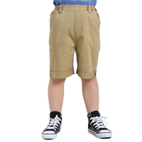 Liancaiyi 2017 New Design Boys Summer Clothing Pants Kids Knee Length Solid Casual Cargo Pant With