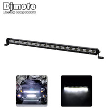 Bjmoto 18W 36W 54W car driving IP67 waterproof work light offroad Flood spot Beam driving offroad truck automobile LED Light Bar 1pc 126w with cree 42led work light bar spot flood beam offroad drl driving lamp car working light source free shipping