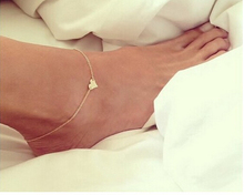 New Fashion jewelry Chain Sexy Gold Tone Love Heart Foot jewelry heart anklets for women girl