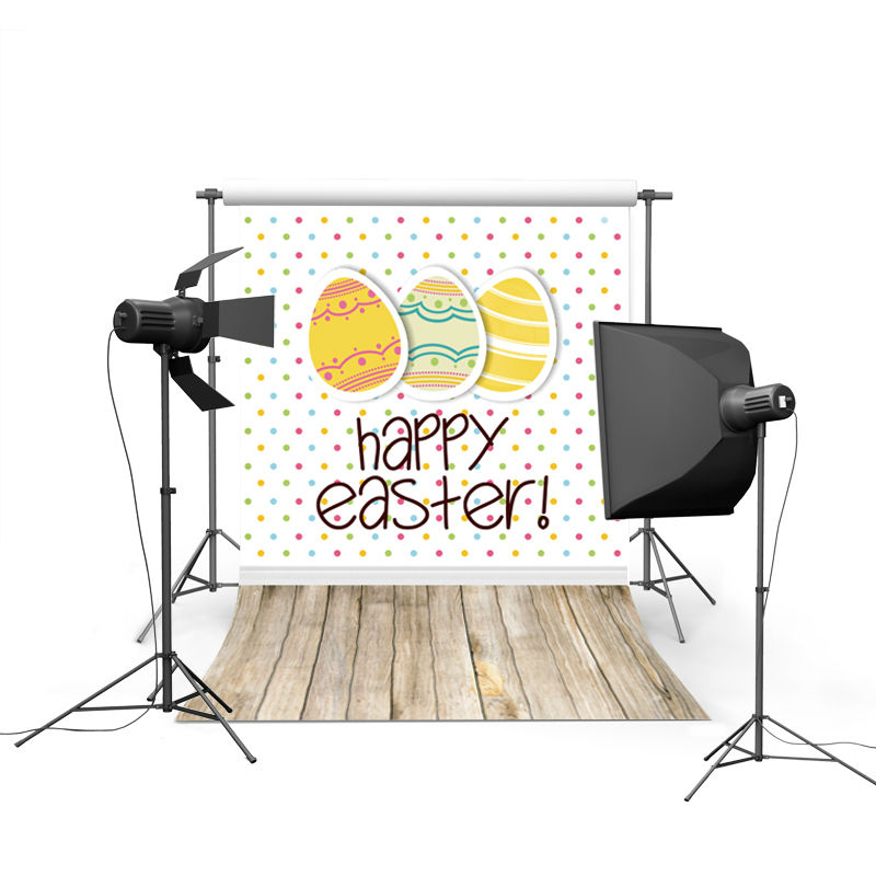 2017 new spring easter photography backdrops sky grass land eggs new born baby children photographic background Easter Day P0324