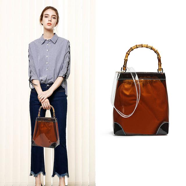 Transparent Fashion Hand Bags