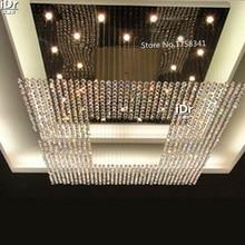 new modern Europe string big crystal High-grade light chandelier hotel lobby chandelier lighting L1000xW1000xH1500mm