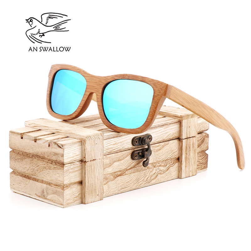 3dc4f7cb4ab1 AN SWALLOW 2018 New fashion Products Men Women Glass Bamboo Sunglasses au  Retro Vintage Wood Lens Wooden Frame Handmade