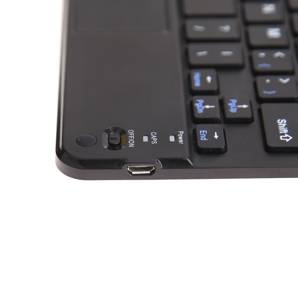 7 inch untra-thin Bluetooth multi function touch-pad keyboard with Built-in Multi-touch Touchpad Bluetooth Keyboard 9