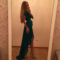 High Quality Fashion Elegant Formal Lace Long Party Dress Wedding Evening Cocktail Robe De Soiree Party
