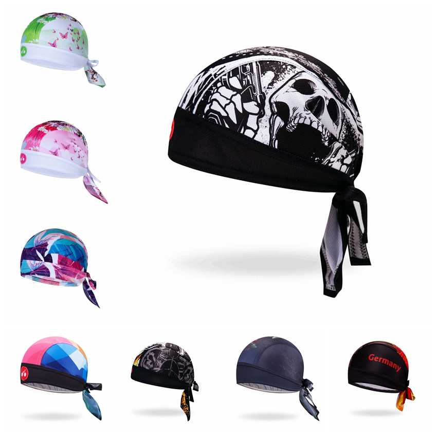 2019 Cycling Cap Head Scarf Men Women Bike bicycle MTB hats Sports Running Bandana Headscarf Ciclismo Pirate Hat Headband Skull