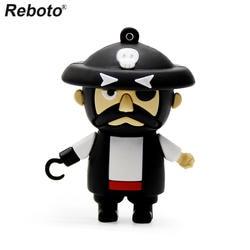 Reboto USB 2,0 Пираты Карибского моря USB флеш-накопитель 4 ГБ 8 ГБ 16 ГБ милые мультяшный флеш-накопитель U диск 32 Гб 64 Гб мини флеш-накопитель