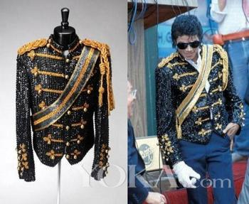 New men's suit Jackson sequin costumes stage nightclub bar male band rock singer costume