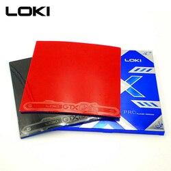 LOKI GTX Professional przyklejony tenis stołowy guma mocny Spin wysokie elastyczne niebieskie gąbki pestki w Pingpong guma do pętli ataku w Rakietki do tenisa stołowego od Sport i rozrywka na