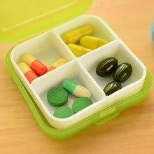 1 шт., переносная коробка для таблеток с 4 Сетками, держатель для таблеток, лекарств, хранения, разветвитель, чехол, органайзер для хранения, контейнер, чехол