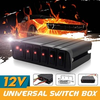Autoleader 4/6 Gang Universal Switch Box LED Switch Panel Car Modification Control Panel Box Switch Button Panel Led Controller