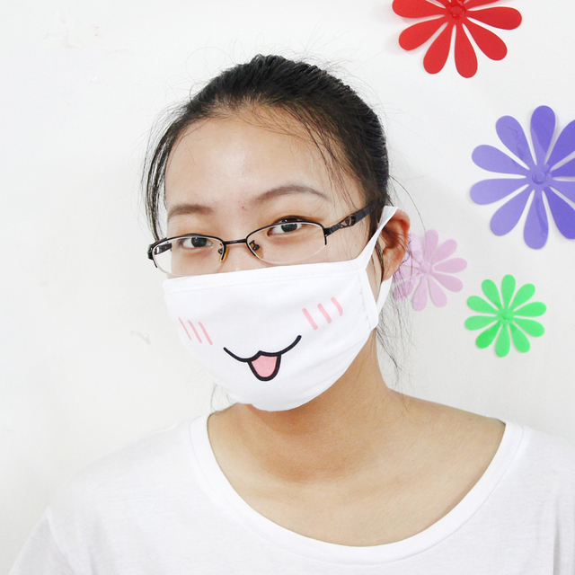 1Pc Kawaii Anti Dust mask Kpop Cotton Mouth Mask Cute Anime Cartoon Mouth Muffle Face Mask Emoticon Masque Kpop Masks Supply 5