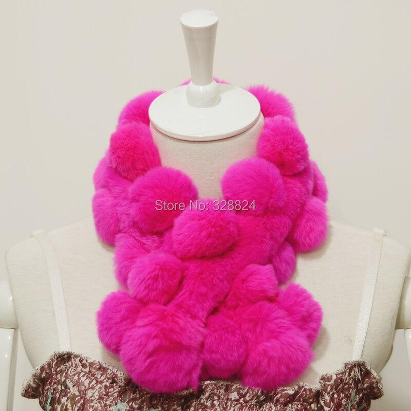 The real Rex rabbit fur scarf soft warm winter scarf Women Child