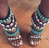 Venta caliente Shell Rebordear Mujeres Sandalias de Moda Azul Rhinestone Correas de Las Señoras Sexy Zapatos de Tacones Altos Vestido de Fiesta Precio Al Por Mayor