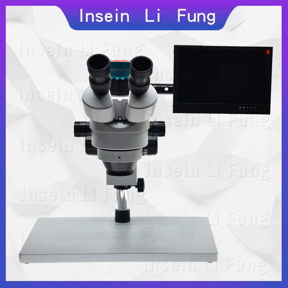 2019 New FHD 28MP 1080P 60FPS HDMI Video Microscope Camera Trinocular Synchronous Focus Stereo Microscope 3