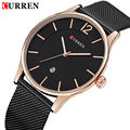 CURREN Top Luxury Watch Men Brand Men's Watches Ultra Thin Stainless Steel Mesh Band Quartz Wristwatch Fashion casual watches