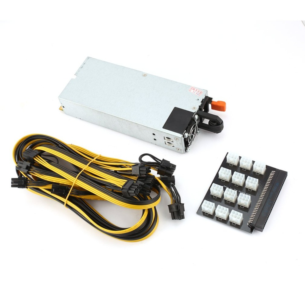 Professional 1100W High Power Supply Module High Efficiency PSU Power Supply for GPU Open Rig Mining Ethereum