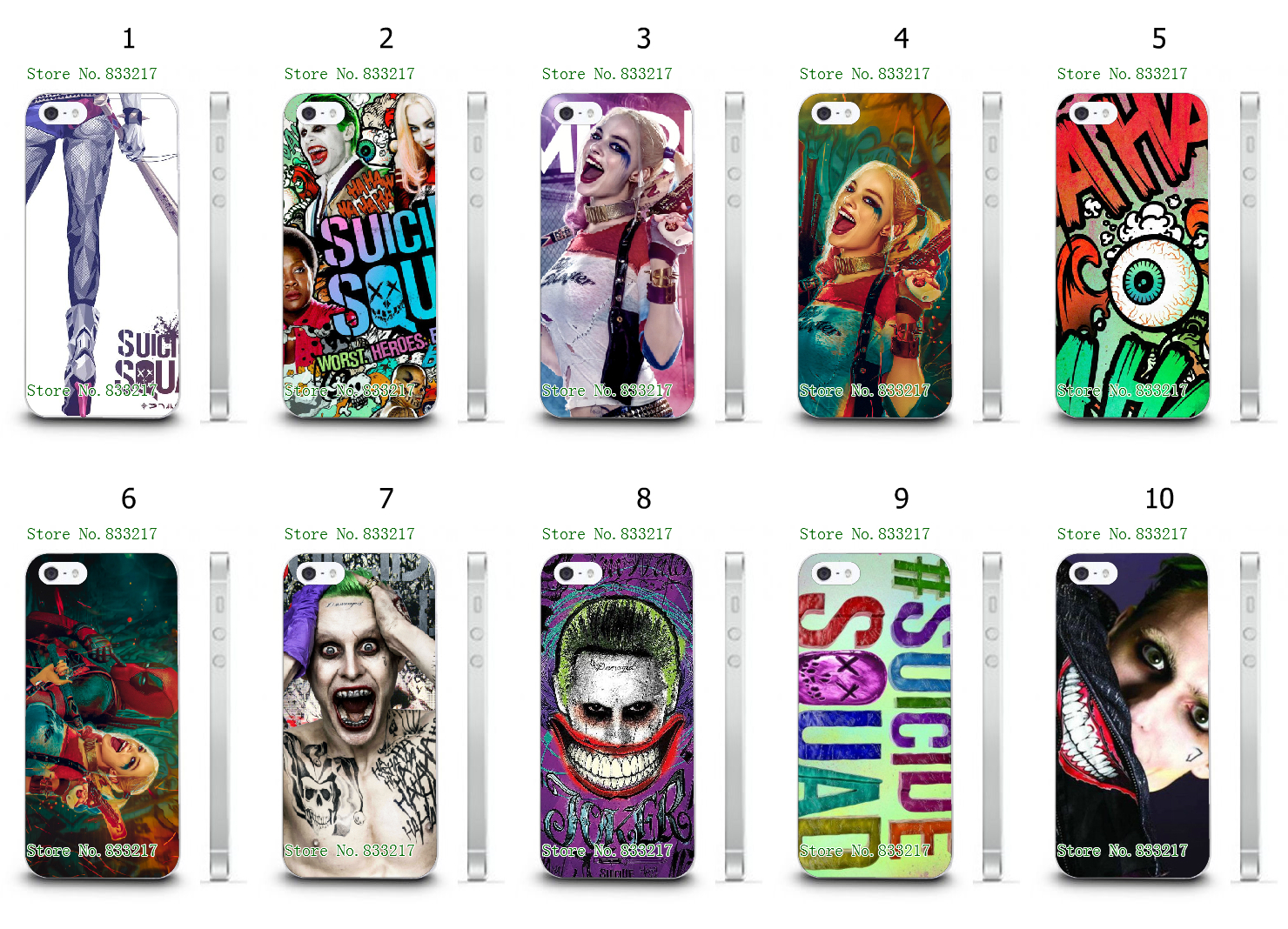 2016 Joker Harley Quinn phone Case Suicide Squad Catwoman