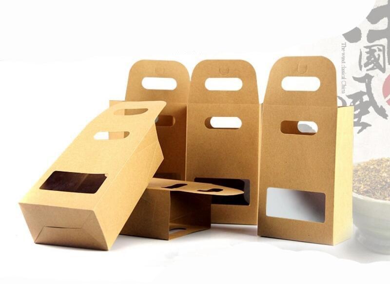 Exceptionnel 10x15 cm Kraft Papier Sac D'emballage Alimentaire avec Fenêtre et  RK46
