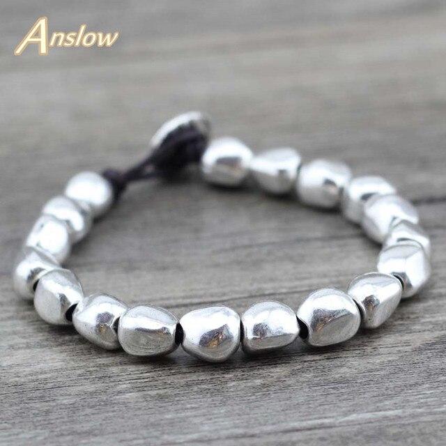 Anslow Sale New Design Handmade DIY Zinc Alloy Beads Unique Silver Plated Friend