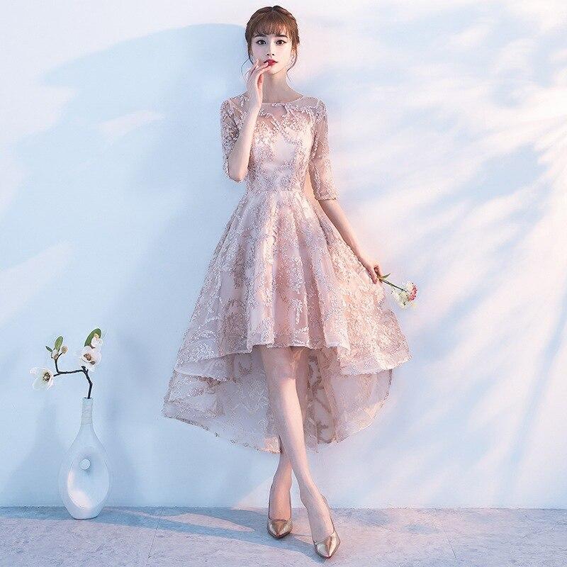 Bride Lace Cheongsam Fashion Women Chinese Evening Dress Short Qipao Wedding Bridesmaid Girls Princess Traditional Dresses China