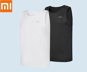 Image 1 - Youpin 남자 스포츠 빠른 건조 조끼 Sfot 습기 흡수 및 빠른 건조 통기성 민소매 휘트니스 Undershirt