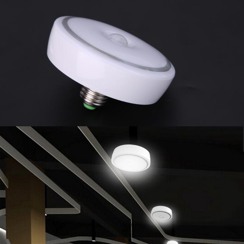 PIR Motion Sensor Lamp E27 AC85~265V Led Bulb 12W PIR Infrared Motion Sensor Modern Aluminium PC LED Home Ceiling Light Lamp new safurance 15w led infrared pir sensor ceiling mount lamp light ac110 265v for room building automation home security
