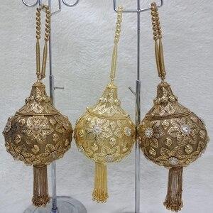 Image 4 - DOYUTIG luxe femmes fait à la main perlée pochettes Vintage cristal perlée sac à bandoulière pour dame sacs de mariage sac de soirée F669