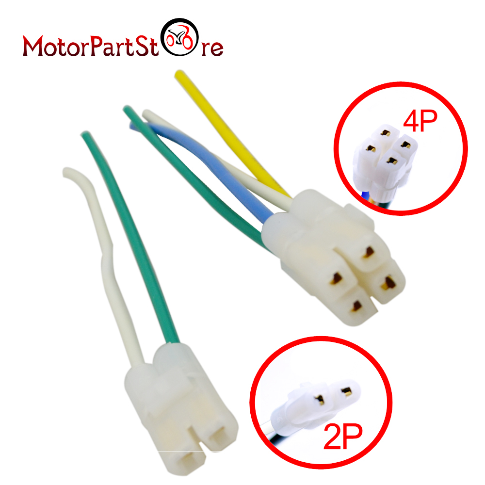 small resolution of cdi cable wire harness plug for gy6 4 stroke 50cc 150cc scooter moped atv go kart