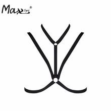 Max Spri 2017 Body Harness Regular Bandage Girl Elastic Bra Straps Cross Bra Crop Top